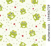 frog prince seamless background.... | Shutterstock .eps vector #154406729