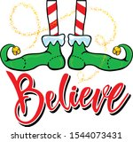 christmas red and white striped ...   Shutterstock .eps vector #1544073431