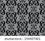 seamless wallpaper pattern  | Shutterstock .eps vector #154407401