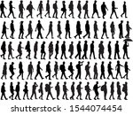 group of people. crowd of... | Shutterstock .eps vector #1544074454