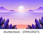 scenery fantasy sunset on the... | Shutterstock .eps vector #1544134271