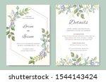wedding invitation templates... | Shutterstock .eps vector #1544143424