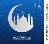 happy eid milad un nabi mubarak....   Shutterstock .eps vector #1544182091