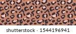 leopard skin. animal print.... | Shutterstock .eps vector #1544196941