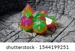 D D Ttrpg Rainbow Dice Set