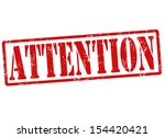 attention grunge rubber stamp ... | Shutterstock .eps vector #154420421