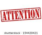 attention grunge rubber stamp ... | Shutterstock .eps vector #154420421