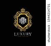 monogram letter aa luxury royal ...   Shutterstock .eps vector #1544214731
