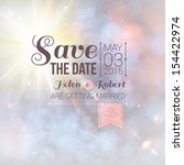 save the date for personal... | Shutterstock .eps vector #154422974