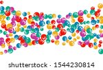 delicate floral pattern with... | Shutterstock .eps vector #1544230814