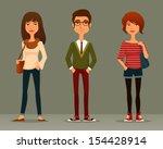 funny cartoon illustration of... | Shutterstock .eps vector #154428914