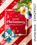 merry christmas vector... | Shutterstock .eps vector #1544295527