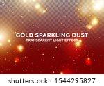 Transparent Light Effect. Gold...