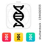 dna icon on white background....