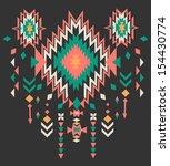 ethnic print vector pattern... | Shutterstock .eps vector #154430774