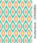 ethnic print seamless vector... | Shutterstock .eps vector #154430801
