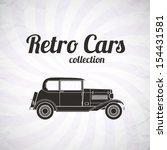 retro car  vintage collection ... | Shutterstock .eps vector #154431581