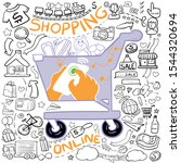 hand drawn doodle style in... | Shutterstock .eps vector #1544320694