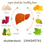 products for a healthy liver.... | Shutterstock .eps vector #1544345741