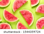 Slices Of Sweet Ripe Watermelon ...