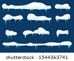snow elements. set of isolated... | Shutterstock .eps vector #1544363741