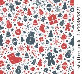 christmas seamless pattern.... | Shutterstock .eps vector #1544364821