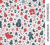 christmas seamless pattern.... | Shutterstock .eps vector #1544364821
