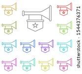 history  trumpet multi color...