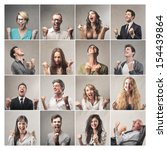mosaic of successful people | Shutterstock . vector #154439864