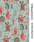vector seamless pattern with... | Shutterstock .eps vector #1544399861