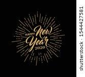 welcome lettering. handwritten... | Shutterstock .eps vector #1544427581
