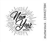 welcome lettering. handwritten... | Shutterstock .eps vector #1544427584