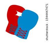 vector boxing gloves  boxing... | Shutterstock .eps vector #1544447471