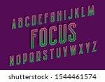 focus alphabet of pink green... | Shutterstock .eps vector #1544461574
