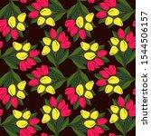seamless vector floral... | Shutterstock .eps vector #1544506157