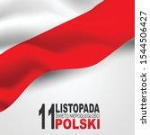 wi to niepodleg o ci polski 11 ... | Shutterstock .eps vector #1544506427