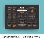 pizza restaurant menu layout... | Shutterstock .eps vector #1544517941