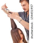 professional hairdresser with... | Shutterstock . vector #154451957