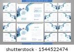 desk calendar 2020 template  ... | Shutterstock .eps vector #1544522474