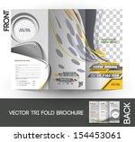 horse riding tri fold mock up   ... | Shutterstock .eps vector #154453061