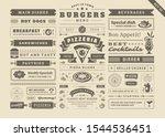 restaurant menu typographic... | Shutterstock .eps vector #1544536451