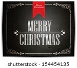 christmas greeting card. merry... | Shutterstock .eps vector #154454135