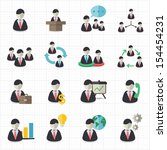 business man and management... | Shutterstock .eps vector #154454231
