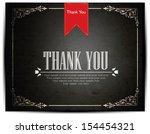 thank you card design | Shutterstock .eps vector #154454321