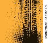 orange grunge background with... | Shutterstock .eps vector #154454471