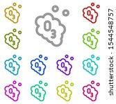 ozone multi color icon. simple...