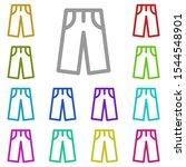 pants multi color icon. simple...