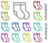 socks multi color icon. simple...