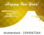 new year's card mt. fuji and...   Shutterstock .eps vector #1544567264