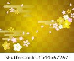 Cherry Blossoms  Checkered Gold ...